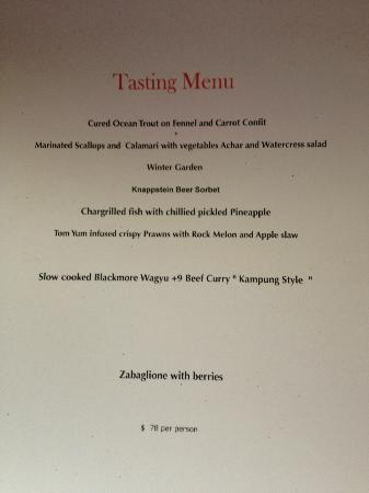 Lanterne Rooms: Tasting Menu September 2012