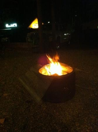 Timberline Lodge: old washing machine tub fire pit! bring your marshmallows!