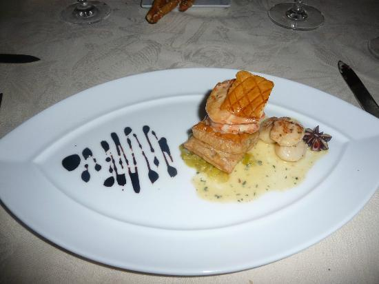 The Landings St. Lucia: Shrimp and Anise in Puff Pastry Appetizer @ The Palms