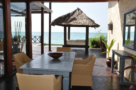 Sanctuary Cap Cana by AlSol: Deck and entrance in the Royal Villa.
