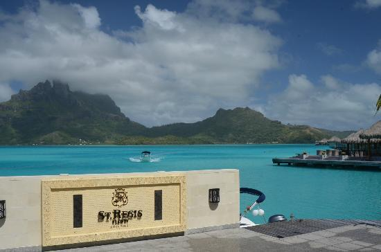 The St. Regis Bora Bora Resort: main dock area