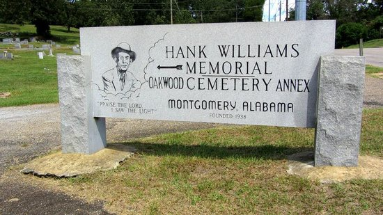 Hank Williams Memorial - Oakwood Annex Cemetery: Cemetery entrance