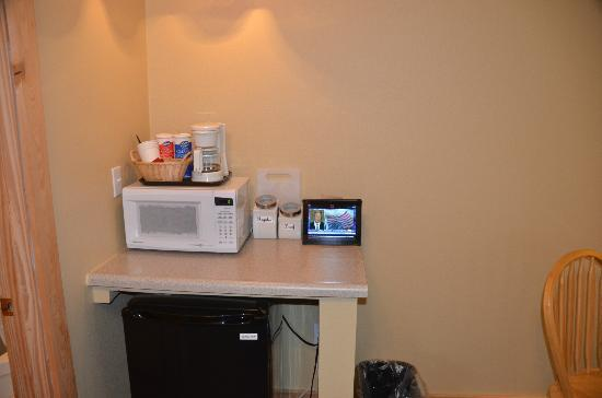 McKinley Creekside Cabins: Micro - personal IPAD substitute for TV