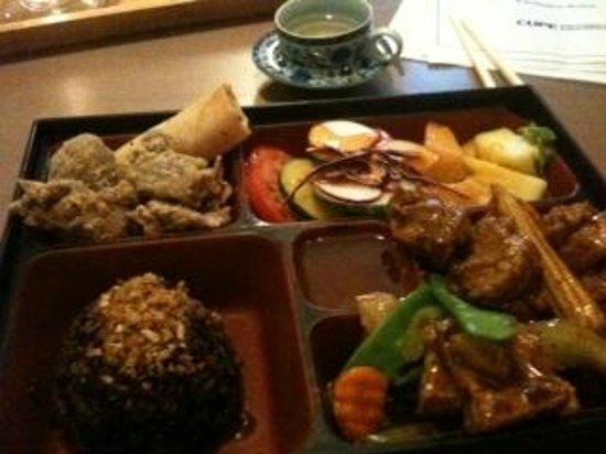 Zen Gardens: bento box dinner with tea