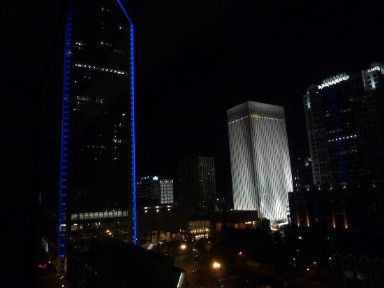 The Westin Charlotte: view from our room on the 14th floor at night