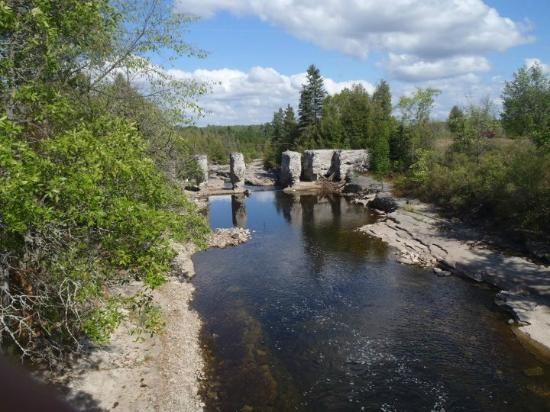 A view downriver from the road at The Bonnechere Caves