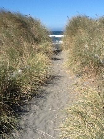 Pacific Reef Hotel - Gold Beach: The trail to the beach