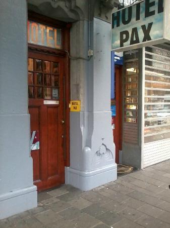 Hotel Pax: a door of Pax 