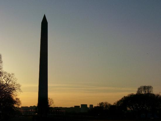 "DC Insider Tours: Washington Monument At Dusk During ""Mouments at Night."""