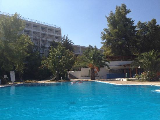 Porto Heli, Greece: Μια πανέμορφη πισίνα με δέντρα γύρω γύρω