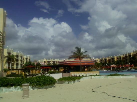 The Royal Haciendas All Suites Resort & Spa: View of Resort look from the beach
