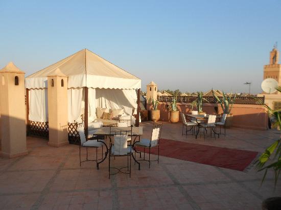Riad Shama: terrasse