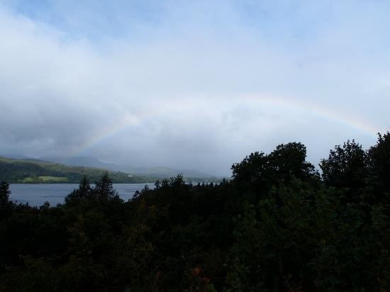 The Firgarth: I saw a rainbow above Lake Windermere as I walked along a route suggested by Colin.