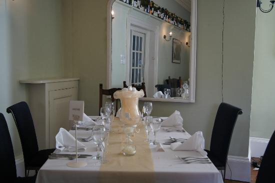The Corner House Hotel: One of the beautifully laid tables