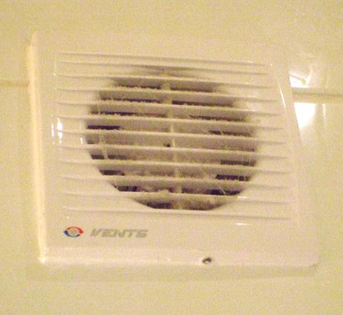 Alston, UK : Very dusty air vent in bathroom