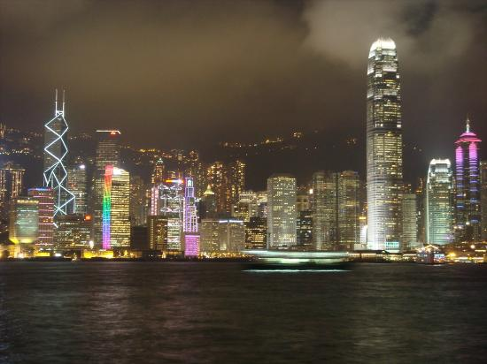 The Cityview Hong Kong : Hong Kong by night... Laser show !