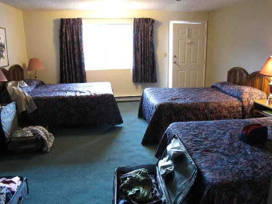 Golden Village Lodge: The three beds in our unit.