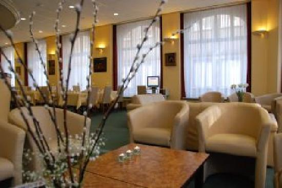The lounge in the Albion Hotel - your home away from home