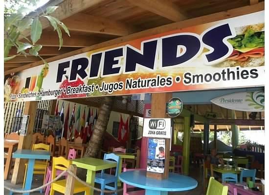 Friends: restaurant sign