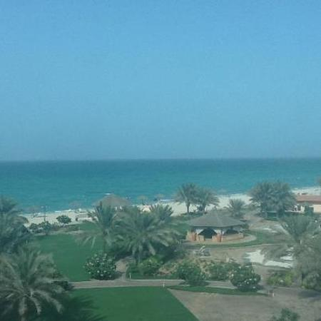Danat Jebel Dhanna Resort: view from the room (through the window)