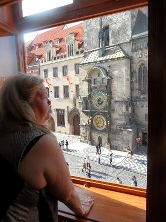 Grand Hotel Praha: View on the Astronomical Clock from room 212