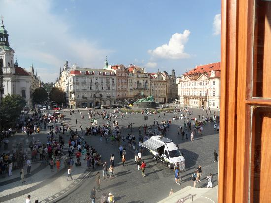 Grand Hotel Praha: View on the Old Town Square from room 212