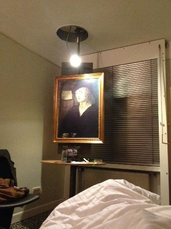 "Hotel Cristall: Odd ""Old Master"" painting on an easel..."