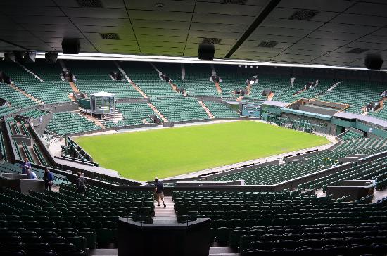 Wimbledon Lawn Tennis Museum: Centre Court From The Back Rows