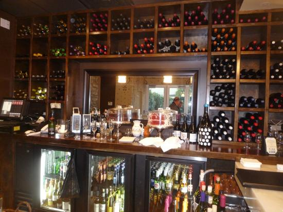 Cork and Tapas Wine and Dessert Bar : Wine and beer behind the bar