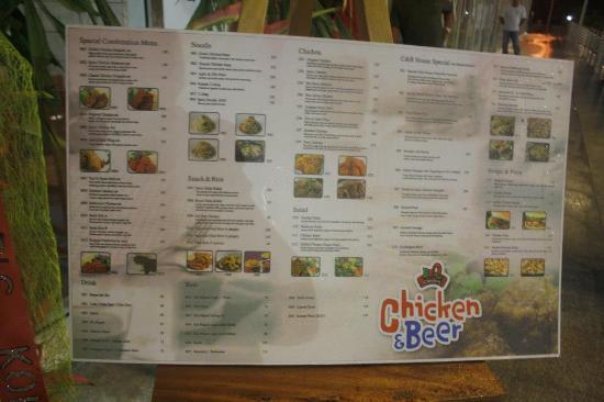 menu - Picture of BBQ Chicken & Beer, Muntinlupa - TripAdvisor