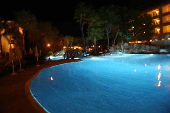 ‪جروبتيل بارك ناتشورال آند سبا: Pool at night