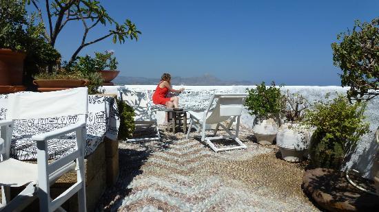 Melenos Lindos Hotel: Terrace