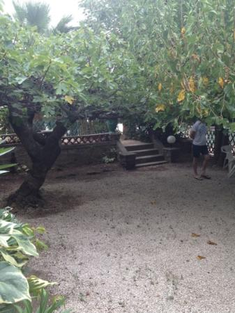 Auberge de la Calanque : the path to the pool