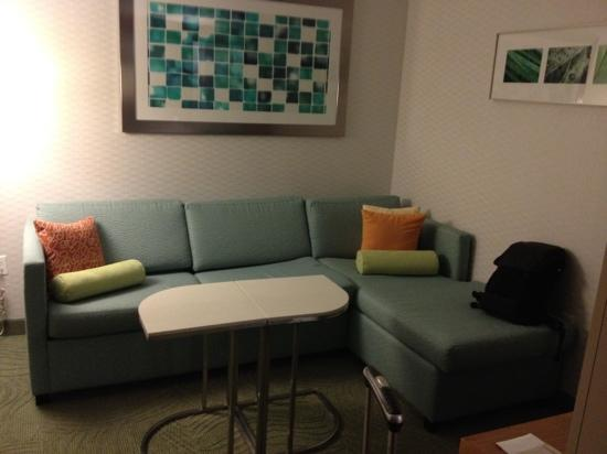 SpringHill Suites Indianapolis Downtown: living room area
