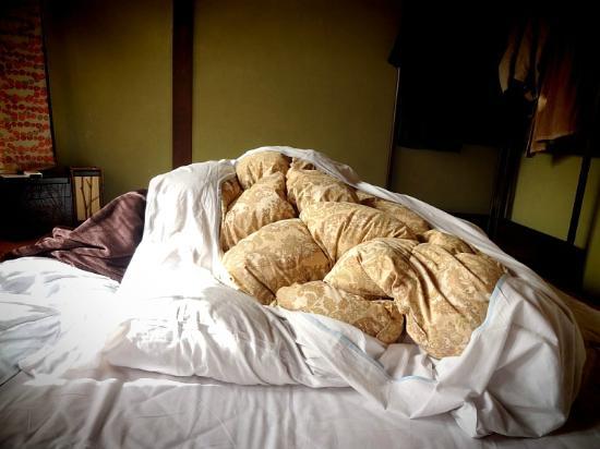 Guest house Rakuza: Our blanket.. I didn't do a good job.