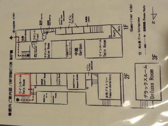 Guest house Rakuza: The guest house plan