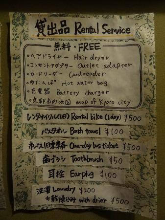 Guest house Rakuza: Services offered in Rakuza