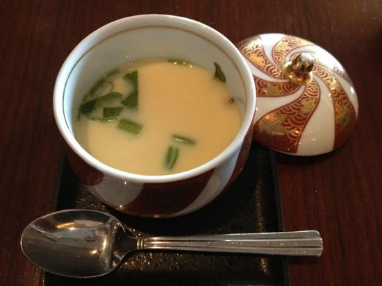 Furusato: Steamed egg - part of the sushi set