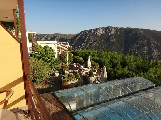Delphi Palace: View from balcony, that's one of the good points about the hotel