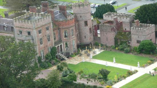 Rowton Castle: Air Shor From Helicopter Arrival