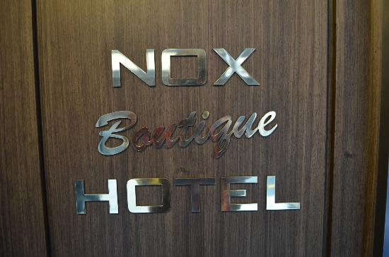 Nox Hotel: Door Sign