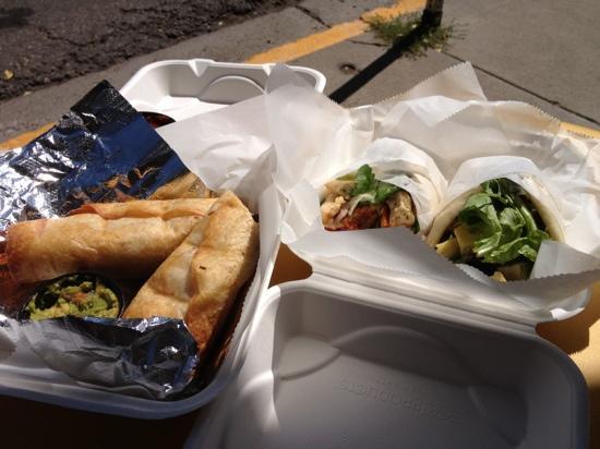 Aemono Market Deli : amazing taquitos and fresh chicken salad