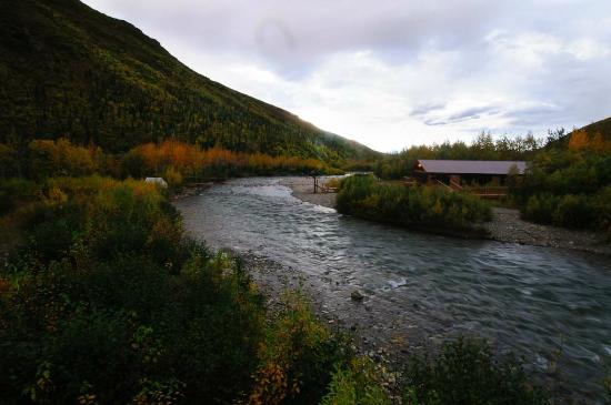 Denali Backcountry Lodge: Moose Creek and Lodge from the Gazeebo