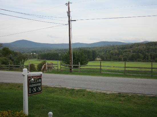 Yellow Farmhouse Inn: Beautiful view from the front porch