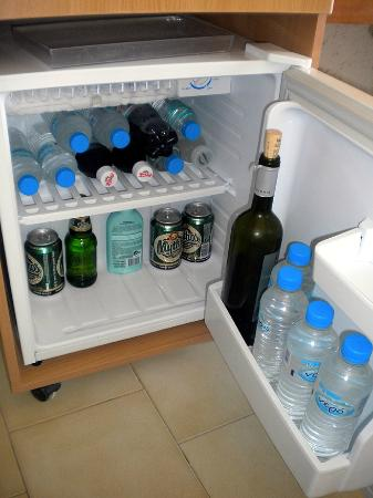 Maria Anna Hotel: The fridge in the room held a surprisingly large amount