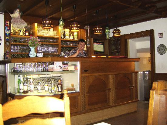 Gasthof-Pension Leopold Janu : Leo behind the bar