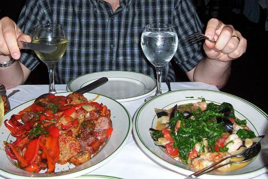 Tony's Di Napoli - Midtown: Sausage & meatballs and lobster & sea...
