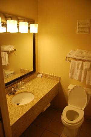 Quality Inn & Suites: Sink and bathroom