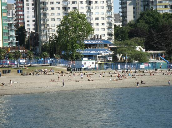 Boathouse Restaurant From The Beach Picture Of The Boathouse Vancouver Tripadvisor