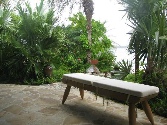 Rosewood Little Dix Bay: Spa, waiting area